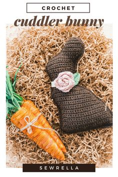 This crochet chocolate bunny is a simple, easy level project that's perfect for Easter and spring home decor. The free pattern also includes a video tutorial! Holiday Crochet Patterns, Crochet Patterns Amigurumi, Knitting Patterns, Crochet Dolls, Easter Projects, Easter Crafts, Holiday Crafts, Crochet Projects, Crochet Crafts