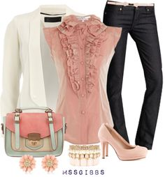 how adorable does this look. you can wear it as a work outfit or tune it up with some amazing heels as a going out outfit . Uk Fashion, Fashion Outfits, Womens Fashion, Fashion Sets, Office Fashion, Holiday Fashion, Mode Style, Style Me, Funky Style