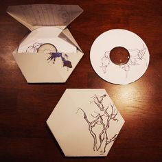 Love the shape and how the line drawing is carried through to the cd