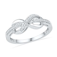 Shop For CT. Diamond Infinity Wrapped Ring in White Gold at Gordon's Jewelers - CT. Diamond Infinity Wrapped Ring in White Gold. Gold Bridal Earrings, Sapphire Earrings, Stud Earrings, Diamond Wedding Bands, Wedding Rings, Morganite Ring, Gold Jewelry, Diamond Jewelry, Jewellery