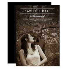 Wedding Invitation Photo Cards Classic Type Wedding Photo Save the Date Card