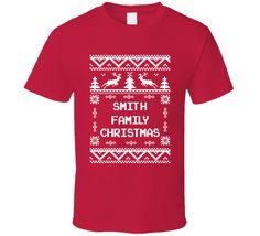 Youth Smith Family Christmas Ugly Sweater T-Shirt