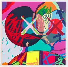 Graffiti Murals, Graffiti Lettering, Graffiti Artists, Painting Inspiration, Art Inspo, Kaws Painting, Kaws Wallpaper, Alone Art, Canvas Art Prints