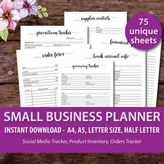 Small Business Planner Printable Small Business Binder