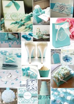 All things diy bride: Tiffany Blue Inspiration. The cake just needs a little more white in it.