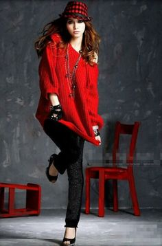 Red Fashion #fashion...that hat is all