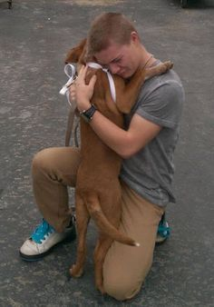 The first time he gets a dog ...