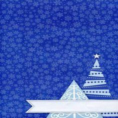 2081 Blue Snowflake Christmas Backdrop