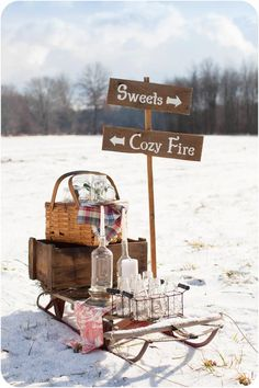 Rustic Winter Wonderland Outdoor Party                                                                                                                                                                                 More