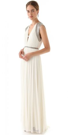 Catherine Deane Mercia Embellished Long Gown Dress Frock and Clothing