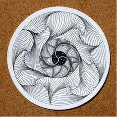 News from Zentangle Zentangle Drawings, Doodles Zentangles, Zentangle Patterns, Tangle Doodle, Tangle Art, Doodle Art, Bauch Tattoos, Wow Art, Mandala Coloring