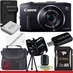 Canon PowerShot SX280 HS Digital Camera (Black) 16GB Package   for more details visit :http://photocamera.megaluxmart.com/