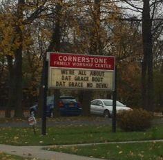 Nice pun, church.