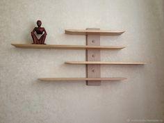 Pallet Wall Decor, Pallet Patio Furniture, Wall Shelf Decor, Wood Wall Shelf, Home Decor Furniture, Rustic Wooden Shelves, Primitive Shelves, Solid Wood Shelves, Japanese Living Rooms