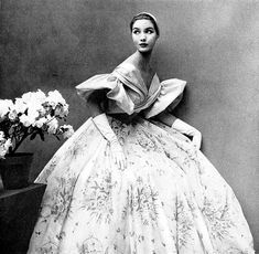 Lovely ball gown by Maggy Rouff, Harper's Bazaar, May 1952