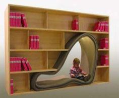 Cave Bookcase Design