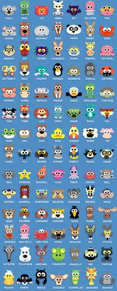 All the animal masks so far
