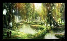 fantasy jungle by AlienTan.deviantart.com on @DeviantArt
