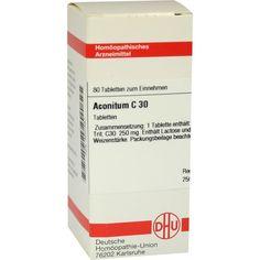 ACONITUM C30 Tabletten:   Packungsinhalt: 80 St Tabletten PZN: 04201557 Hersteller: DHU-Arzneimittel GmbH & Co. KG Preis: 5,95 EUR inkl.…