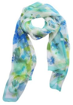 Floral & Graphic Print Silk Scarf On Sale - Gift Idea for Her - A Thrifty Mom