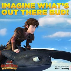 """Hiccup and Toothless are flying off on new adventures! Race to the Edge with these two in """"Dragon Eye of the Beholder, Part 1"""" available on Netflix."""