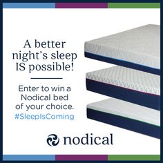 It's time to take back your #sleep! Enter to #win a luxurious foam mattress from @nodicalbed #SleepIsComing