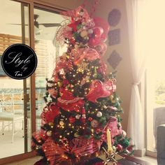 Arbol Navidad blanco y rojo concepto caramelos 🍭🎄