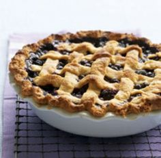 Blueberry Lattice Pie Recipe : By changing butter to trans fat free margarine, using whole wheat flour and reducing the amount of sugar used in the filling, this delicious blueberry lattice pie is not only pretty, it's heart healthy too.       http://hunterdon.webhealthyrecipes.com/Health-eCooking-HEC/By-Diet/Heart-Healthy/Blueberry-Lattice-Pie-Recipe.html