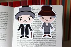 Agatha Christie Magnetic Bookmarks | Hercule Poirot and Miss Marple