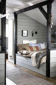 An attic bedroom