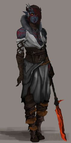 Tiefling Warlock concept, Nazim Z on ArtStation at https://www.artstation.com/artwork/x90oW
