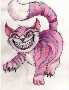 Cheshire Cat by Frosttattoo.deviantart.com on @deviantART Love it