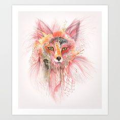 """""""Foxy Fur"""" Art Print by Ola Liola"""
