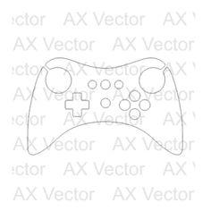 Nintendo Switch Vector Template | Vector Contour Cut Templates ...