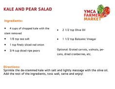 Kale and Pear Salad - YMCA Farmers Market 2014