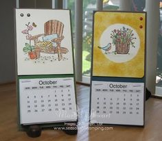 Seasons of Stamping: Stampin'Up! Peace Within ~ Calendars