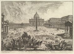 Giovanni Battista Piranesi   View of St. Peter's Basilica and Piazza in the Vatican, from Vedute di Roma (Roman Views)   The Met