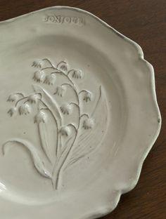 Plate created by Nathalie Lété for Astier de Villatte (Paris)