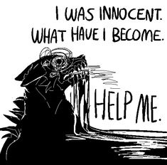 """would you mind doing a very wolfish demonkin with the words """"i was innocent. help me"""" Wolf Quotes, Dark Quotes, Bd Art, Vent Art, My Demons, Werewolf, Writing Prompts, Deep Thoughts, Illustrations"""