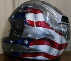 airbrushed motorcycle helmets | American Flag Airbrushed Motorcycle http://www.badbaran.com/other .... Who does not like a good looking helmet?