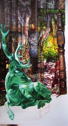 """Saatchi Art is pleased to offer the drawing, """"'Kaboom, Where Did All the Animals Go?' Colour Biro Drawing,"""" by Jane Lee McCracken. Original Drawing: Pen and Ink on N/A. Biro Art, Biro Drawing, Artsy Fartsy, Surrealism, Saatchi Art, Ink, Drawings, Illustration, Artist"""