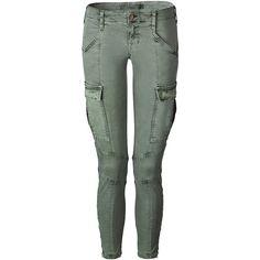 J BRAND Vintage Olive Skinny Cargo Pants Houlihan ($220) ❤ liked on Polyvore