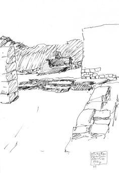 Architekturfotografie: Höhen von Macchu Picchu: Martín Chambi - Álvaro S . Architecture Sketchbook, Art And Architecture, Classical Architecture, Bungalow Haus Design, Beautiful Ruins, Simple Line Drawings, Copic Sketch, Drawing Sketches, Sketching