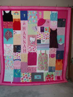 CUSTOM ORDERS Full size Quilt made from baby clothes by BarbMalmTshirtQuilts on Etsy