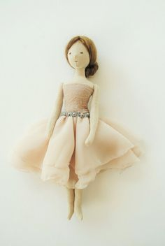 Cloth doll / ballerina / one of a kind / handmade by by willowynn                                                                                                                                                                                 More