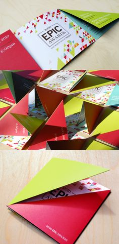 The White House Project's 2010 EPIC Awards from Hyperakt, I'm a sucker for origami and this is such a fantastic creative idea!