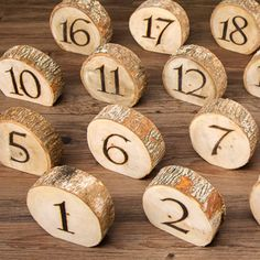 David+Tutera™+Rustic+Wedding+Wood+Slice+Table+Numbers:+20+pieces
