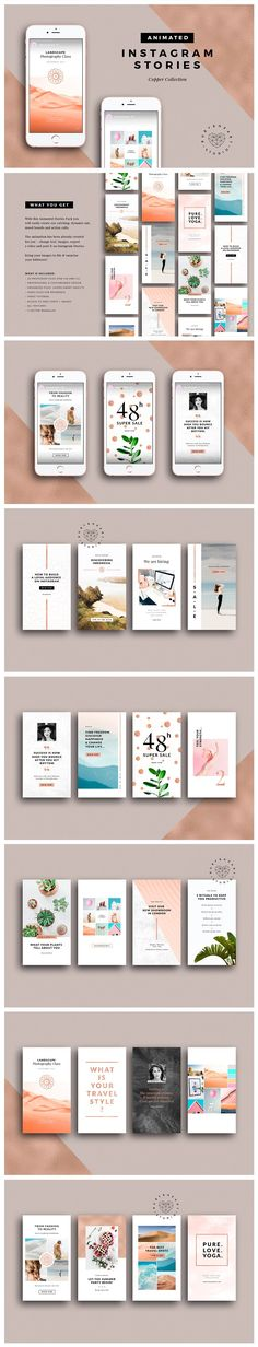 ANIMATED Copper Instagram Stories by Ruby&Heart Studio on @creativemarket