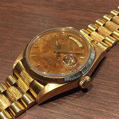 ref.18078 daydate yg18k Birch wood dial