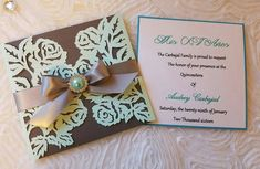 Items similar to Laser cut Roses invitation on Etsy Quinceanera Invitations, Baptism Invitations, Next Wedding, Bridal, Invitation Design, Beautiful Hands, Laser Cutting, Different Colors, Pink